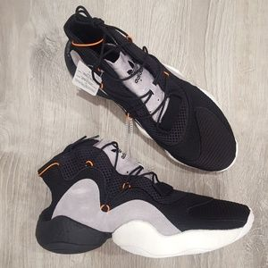 NWT Adidas Crazy BYW Black with Gray Suede